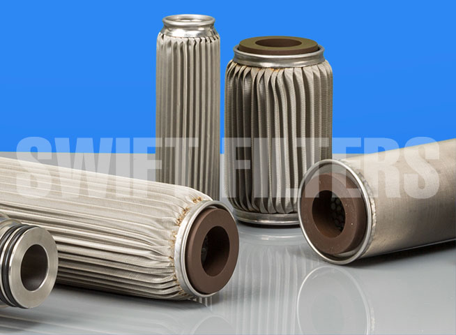 stainless steel crimped filter elements